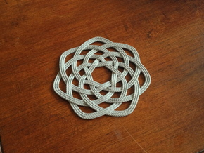 Nautical themed rope coaster in Metallic Plastic
