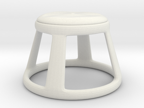 Chair No. 25 in White Natural Versatile Plastic