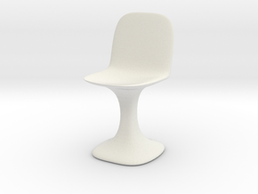 Chair No. 13 in White Natural Versatile Plastic