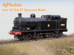AJModels P01 Ivatt N1 Saturated Boiler, BR-era in Smooth Fine Detail Plastic