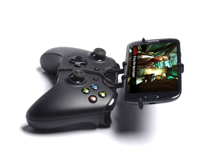 Xbox One controller & BLU Life One (2015) - Front  in Black Natural Versatile Plastic