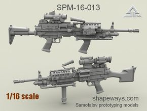 1/16 SPM-16-013 m249 MK48mod0 7,62mm machine gun in Frosted Extreme Detail
