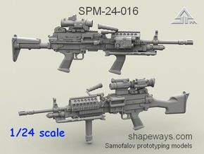 1/24 SPM-24-016 m249 MK48mod0 7,62mm machine gun in Smoothest Fine Detail Plastic