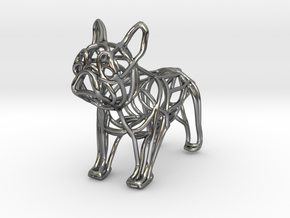 French Bulldog Bottle Opener Keychain in Fine Detail Polished Silver