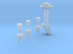 Martian Villa  Tower And Turrets in Smooth Fine Detail Plastic