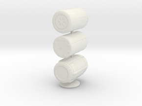 1:20 Barrel set  in White Natural Versatile Plastic