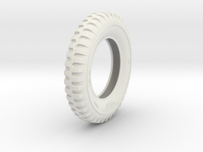 1-6 Tire 750x20 in White Strong & Flexible