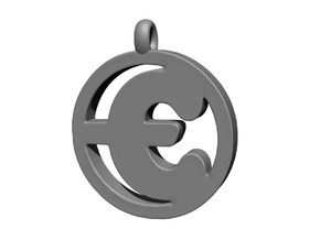 €uro Pendant in Polished Metallic Plastic