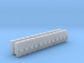 Gothic Spaceship Gun Battery Module V2 in Smooth Fine Detail Plastic