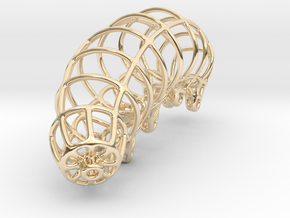 Wireframe Tardigrade in 14K Yellow Gold