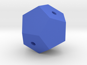 Dodecahedron Tangled in Blue Processed Versatile Plastic