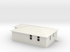 N Scale Australian House #2B in White Natural Versatile Plastic