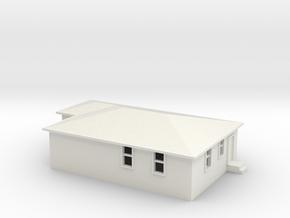N Scale Australian House #2B in White Strong & Flexible