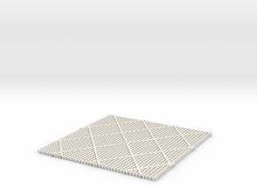 Grid  in White Natural Versatile Plastic