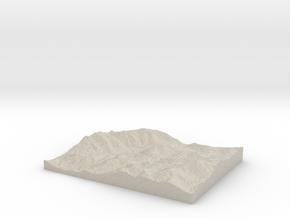 Model of Mount Colden in Natural Sandstone