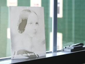 Ada Lovelace Shadowgram in White Natural Versatile Plastic