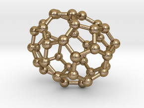 0229 Fullerene C42-8 c1 in Polished Gold Steel