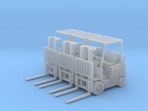 Yale Forklift (HO - 1:87) 3X in Smooth Fine Detail Plastic
