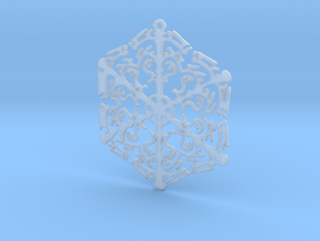 Snowflake Crystal in Smooth Fine Detail Plastic