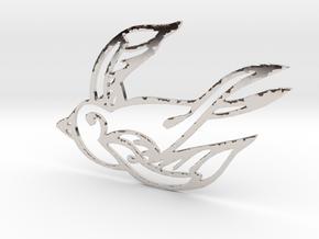 Swallow in Platinum