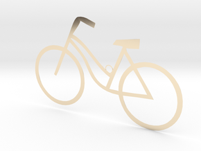 Ladies Bicycle in 14k Gold Plated