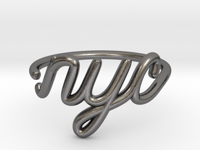 NYC Wire Ring (Adjustable) in Polished Nickel Steel