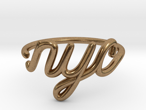 NYC Wire Ring (Adjustable) in Natural Brass