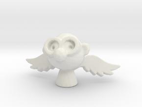 Geek Angel in White Natural Versatile Plastic