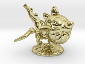 Dino Gnar Angry Ver in 18k Gold Plated Brass