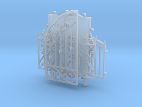 Iron fences and tableau in Smooth Fine Detail Plastic