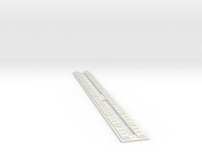 HO Concrete Direct Fixtation Track in White Natural Versatile Plastic