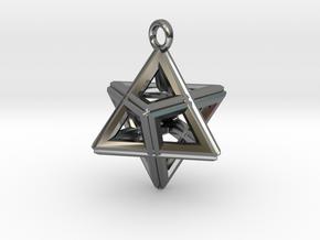 SIGNAL MERKABAH [PENDANT] in Premium Silver