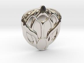 Mon Mothma's Brooch - large in Rhodium Plated Brass