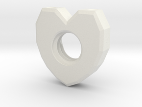 Alex HeartNut in White Natural Versatile Plastic