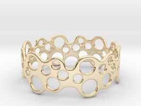 Bubbles Bracelet 68 in 14k Gold Plated Brass