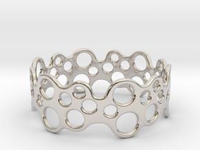 Bubbles Bracelet 68 in Platinum