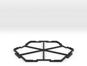 Hex Center in Black Natural Versatile Plastic