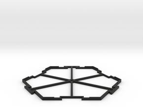 Hex Center in Black Natural Versatile Plastic
