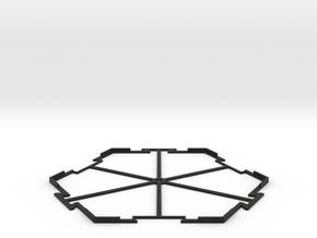 Hex Holder in Black Natural Versatile Plastic
