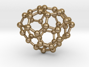 0238 Fullerene C42-17 c1 in Polished Gold Steel