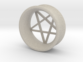 Pentagram Ear Plug in Sandstone