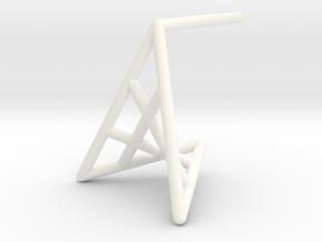 flowerPetal_short (small) in White Processed Versatile Plastic