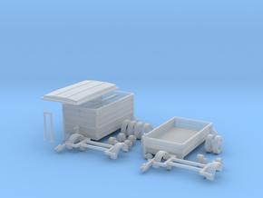 H0 1:87 Anhänger für PKW in Smooth Fine Detail Plastic