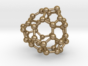 0241 Fullerene C42-20 c1 in Polished Gold Steel