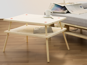 DIY coffee table Hülseburg in White Strong & Flexible