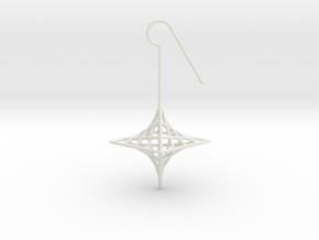 star_quad (medium) in White Natural Versatile Plastic