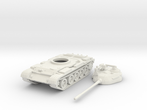1/100 scale T-55 tank in White Strong & Flexible