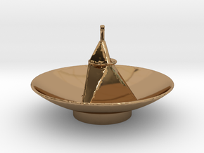 New Horizon's Antenna in Polished Brass