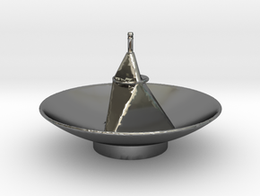 New Horizon's Antenna in Fine Detail Polished Silver