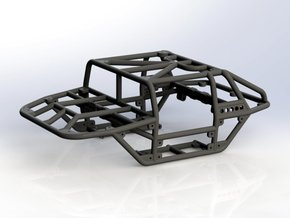 Scorpion v1 1/24th scale rock crawler chassis in Black Strong & Flexible
